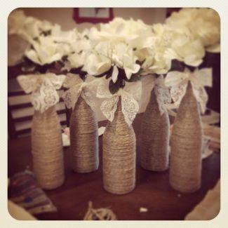Unos floreros para la boda